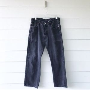 Levis 501 Black Wash Straight Leg Jeans 36x30